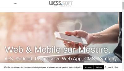 Site internet de Wess Soft