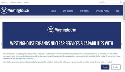 Site internet de Westinghouse Electrique France SAS