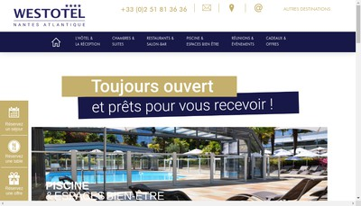 Site internet de West Events Nantes Atlantique