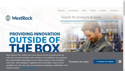 Site internet de Westrock Packaging Systems France