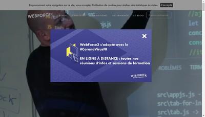 Site internet de Web Force 3 Lyon