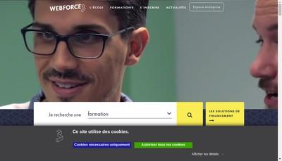 Site internet de Webforce3