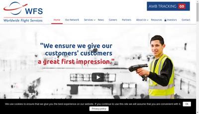 Site internet de Wfs Global Holding