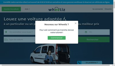 Site internet de Wheeliz