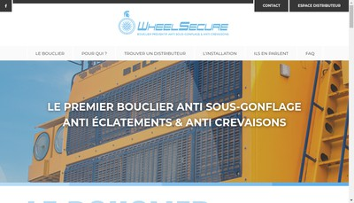 Site internet de Wheelsecure