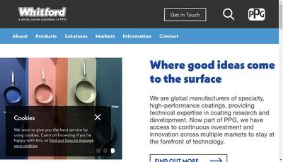 Site internet de Whitford SARL