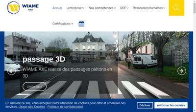 Site internet de Wiame Axe