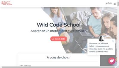 Site internet de Wild Code School