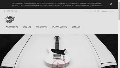 Site internet de Wild Customs