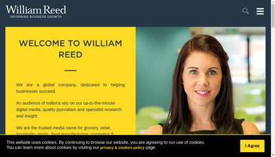 Site internet de William Reed Business Media