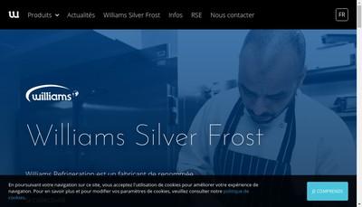 Site internet de Williams Silver Frost