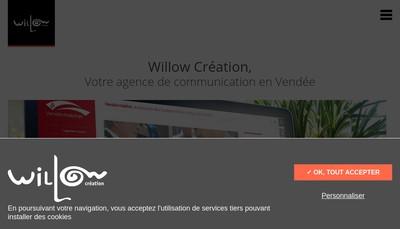 Site internet de Willow Creation