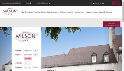 Site internet de Hotel Wilson