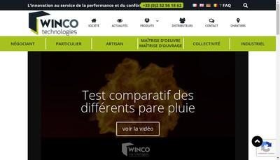Site internet de Winco Technologies