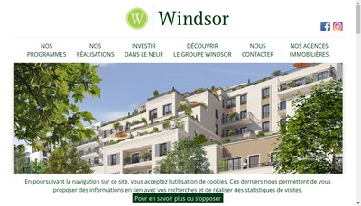 Site internet de Groupe Windsor