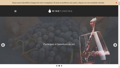 Site internet de Wine Funding
