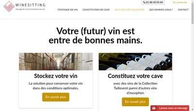 Site internet de Wine Sitting