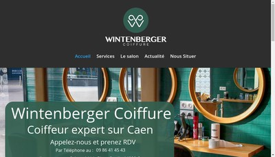 Site internet de Wintenberger Coiffure