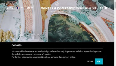 Site internet de Winter & Company