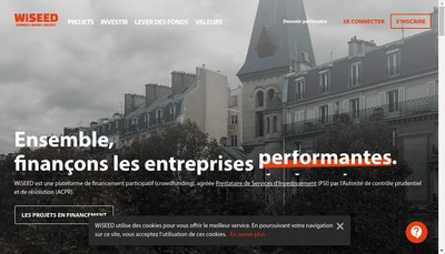 Site internet de WiSEED
