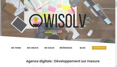 Site internet de Wisolv
