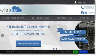 Site internet de Wistee