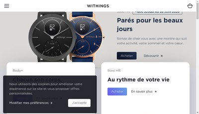 Site internet de Withings