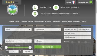 Site internet de Witry Immo