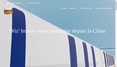 Site internet de Wiz'Import