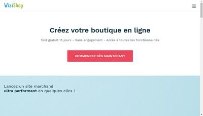 Site internet de Wizishop