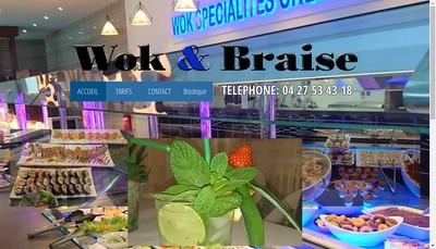 Site internet de Wok & Braise