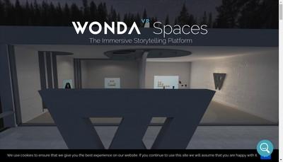 Site internet de Wonda Vr