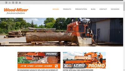 Site internet de Wood-Mizer France