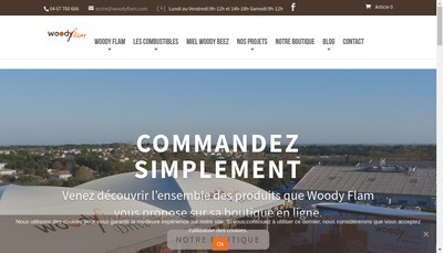 Site internet de Woody Flam Center