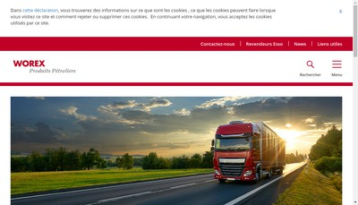 Site internet de Worex SNC
