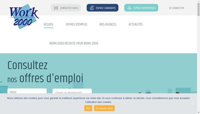 Site internet de Work 2000