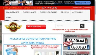 Site internet de Europlaques Plakauto