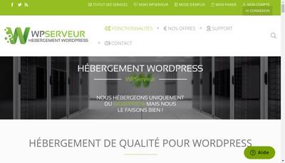 Site internet de Wp Serveur