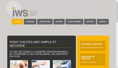 Site internet de Internet Wireless System