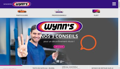 Site internet de Wynn'S Automotive France SAS