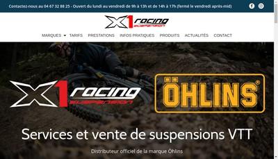 Site internet de X1 Racing Suspension