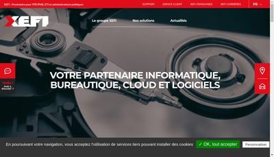 Site internet de Xefi Bourgoin