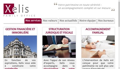 Site internet de Xelis Family Office