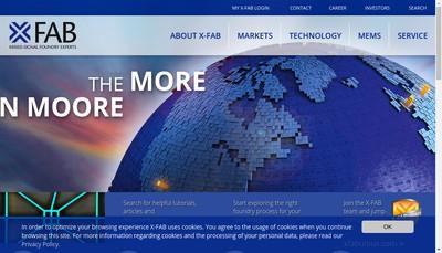 Site internet de X-Fab France