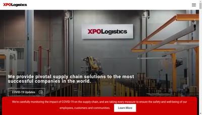 Site internet de Xpo Supply Chain Nord France