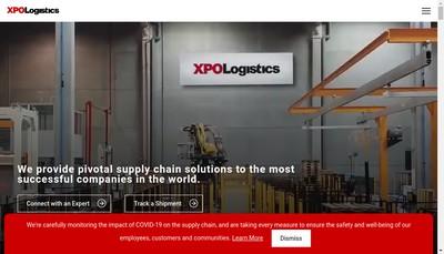Site internet de Xpo Supply Chain Paris & Ouest France