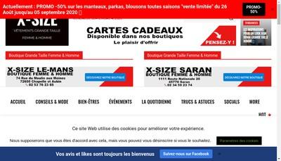 Site internet de X-Size