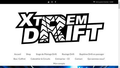 Site internet de Xtrem Drift