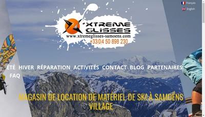 Site internet de Xtreme Glisses