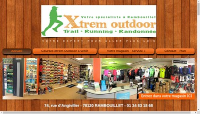 Site internet de Xtrem Outdoor